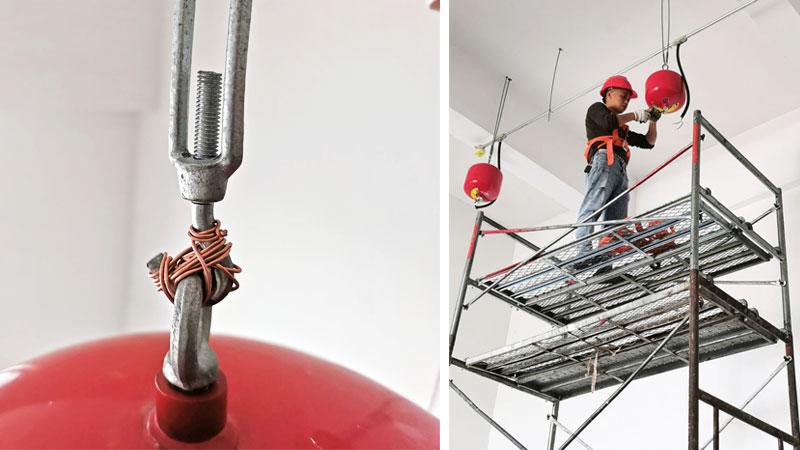 油漆房悬挂超细干粉灭火装置