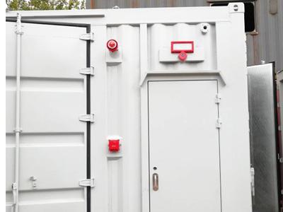 储能集装箱天然气发电机组气体灭火系统
