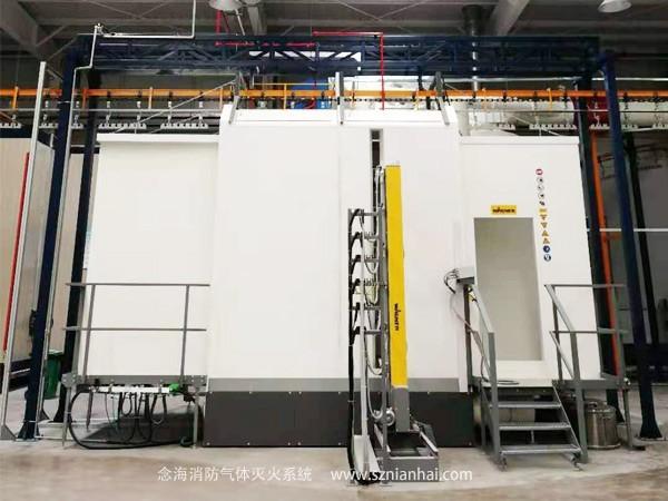 工业涂装喷漆生产线气体消防系统