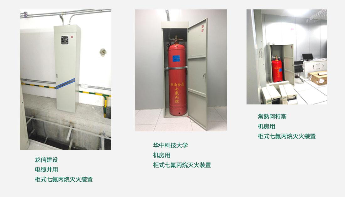 柜式七氟丙烷灭火装置案例