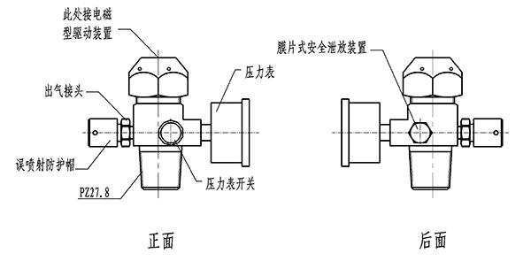 高压二氧化碳灭火系统驱动气体瓶容器阀