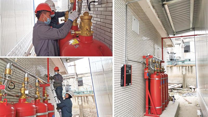 汽车发动机实验室管网七氟丙烷灭火系统
